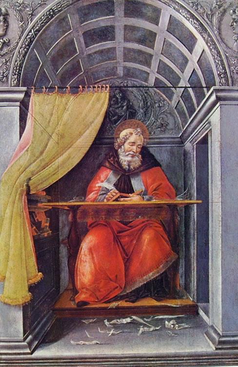 41 botticelli - sant'agostino nello studio