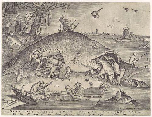 I pesci grandi mangiano i pesci piccoli